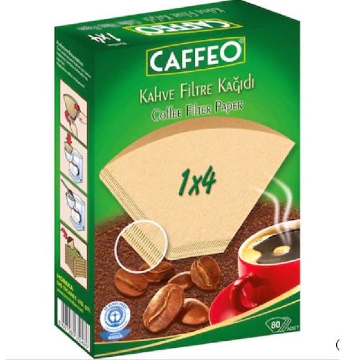 CAFFEO FİLTRE KAHVE KAĞIDI  1x4